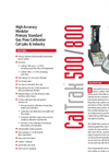 CalTrak - Model 500/800 - Accurate Gas Flow Calibration Primary Standard - Datasheet