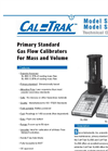 CalTrak 800 Highest Accuracy Gas Flow Calibration Primary Standard - Datasheet