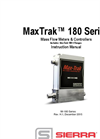 MaxTrak - 180 Series - Mass Flow Meters & Controllers Includes - Instruction Manual