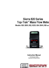 Sierra 820 Series Top-Trak Mass Flow Meters - Instruction Manual