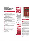 InnovaSonic 203 Economical Clamp-On Ultrasonic Water Flow Meters - Datasheet