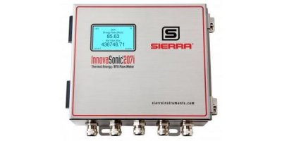 Sierra InnovaSonic - Model 207i - Ultrasonic Liquid Flow Meter with Thermal Energy/BTU Capability