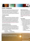 Staff Training - Brochure