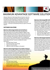Maximum Advantage Software Brochure