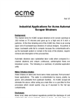 ACME - Industrial Applications for Acme Automatic Scraper Strainers - Brochure