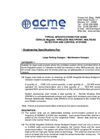 ACME - Model CEW-LS Series - Multiset Gas Detection & Control System - Specifications