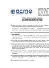 Acme  - Explosion Proof Gas Post - Specifications