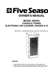 Model 690AIV - Console Tower Electronic Air Cleaner Negative Ionizer & VOC Filter - Manual