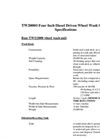TW2000 Four Inch Diesel Driven Wheel Wash System Specifications - Datasheet