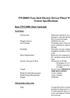 TW2000 Four Inch Electric Driven Wheel Wash System Specifications - Datasheet