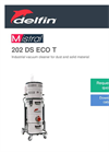 Delfin - Model 202 DS ECO T - Industrial Vacuum Cleaner for Dust and Solid Material - Brochure