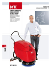 Byte - Walk Behind Scrubber Drier for Small Areas - Brochure