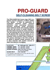 Pro-Guard - Model Type SCC - Self-Cleaning Belt Screen Datasheet