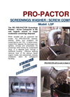 PEI Pro-Pactor - Model LSP - Screenings Washer / Horizontal Screw Compactor Datasheet