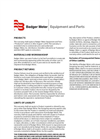 Badger Meter Equipment and Parts