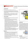 Dynasonics - Model DFX - Doppler Ultrasonic Flow Meter Datasheet