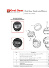 Oval Gear Electronic Meters - Models OG and OGT Parts