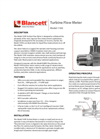 Blancett 1100 Turbine Flow Meter Product Data Sheet