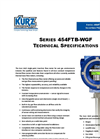 Kurz - Model 454FTB-WGF - Single-Point Insertion Flow Meter Technical Specifications Brochure
