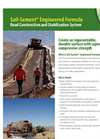 Soil-Sement Engineered Formula - Road Construction and Stabilization System Datasheet