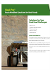 Haul Pro - Resin Modified Emulsion for Haul Roads Datasheet
