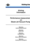 Performance Measurement of Steam Jet Ejectors - Brochure