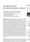 Picarro - Model G2103 - Ammonia Measure Analyzer Brochure