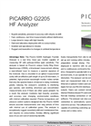 G2205 CRDS Analyzer Data Sheet