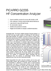 Picarro - Model G2205 - HF Concentration Analyzer - Data Sheet