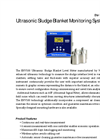 WESS - Model ENV100 Series - Ultrasonic Sludge Blanket Level Meter - Brochure