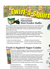 Nixalite - Twirl-A-Squirrel Bird Feeder Baffle Brochure