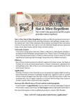 Rat-A-Way Rat & Mice Repellent Brochure (PDF 222 KB)