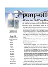 Poop Off - All Marine Bird Dropping Remover - Brochure