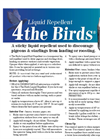 4 the Birds - Liquid Bird Repellent - Brochure