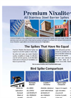 Premium Nixalite - All Stainless Steel Barrier Spikes - Brochure