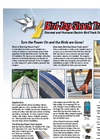 Bird-Zap Shock Track - Discreet and Humane Electric Bird Track Deterrent - Brochure