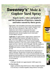 Sweeney Mole & Gopher Yard Spray - Brochure
