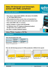 Qdos 30 - Universal and Universal+ Pumps with ReNu Pumphead Datasheet