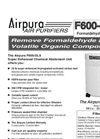 Airpura F600DLX Air Purifiers Brochure