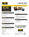 Vac-Tron - ATV1850 Series - Chassis-Mounted Air Excavation System Brochure