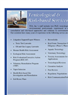 Toxicological & Risk-based Services Brochure