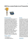 Model 2290 - Non-Contact Radar Level Transmitter Datasheet