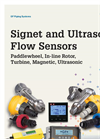 Signet and Ultrasonic Flow Sensor - Brochure