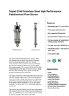 GF Signet - Model 2540 - Paddlewheel Flow Sensor - Hot Tap - Datasheet