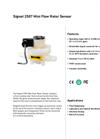 GF Signet - Model 2507 Mini-Flow - In-line Rotor Flow Sensors - Brochure