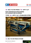 Model VA - BFP-V LB - Stainless Steel Belt Filter Press System Brochure