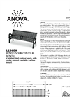 Rendezvous 6 Contour Bench with Center Armrest Spec Sheet