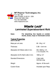 Waste Lock- TOTALSORB - Oil Absorbents Brochure
