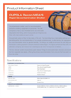 Hughes Safety - Models CUPOLA Decon 2 MD4 and CUPOLA Decon 2 MD4/S - Datasheet