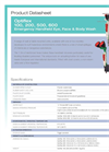 Hughes Safety - Models Optiflex 100, 200, 500 and 600 - Datasheet